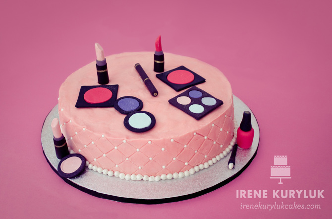 Girly Cake Design Ideas : Makeup Cake - Irene Kuryluk Cakes